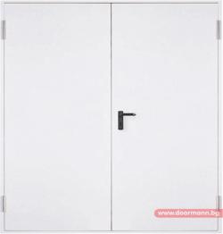 Метална пожароустойчива врата, REI 60 - двукрила