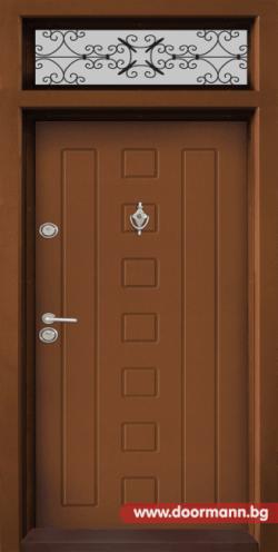 Еднокрила входна врата Т-712- цвят Златен дъб