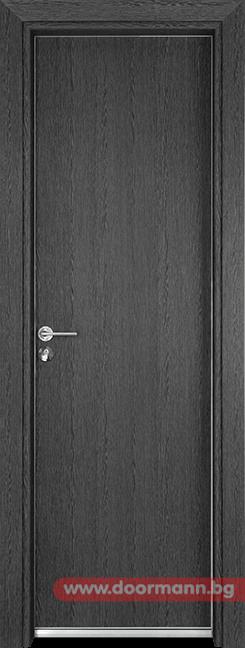 Алуминиева врата за баня - Gama, цвят Сив кестен