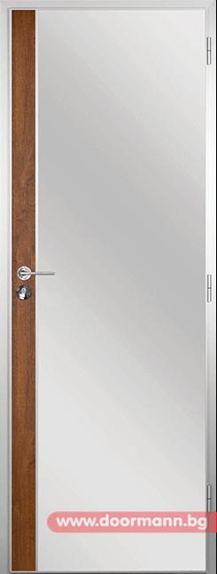Алуминиева врата за баня - Gama, цвят Златен дъб